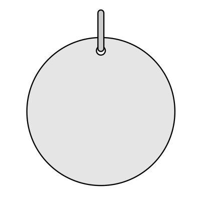 Silver round pendant 25